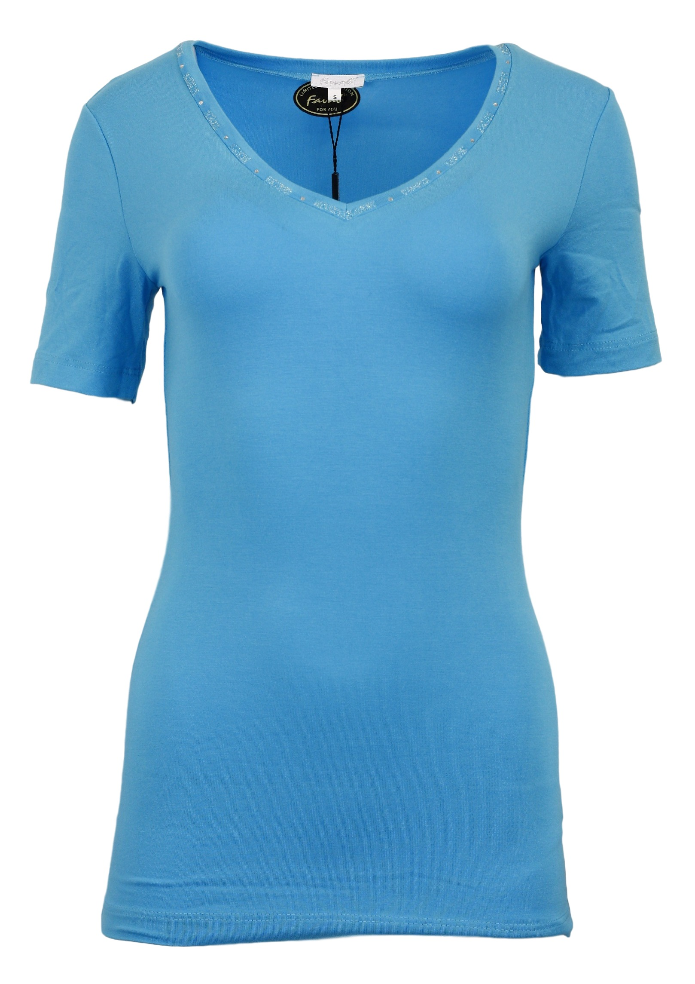 Dámské tričko Lacik KR - Favab Barva: tyrkys, Velikost: L
