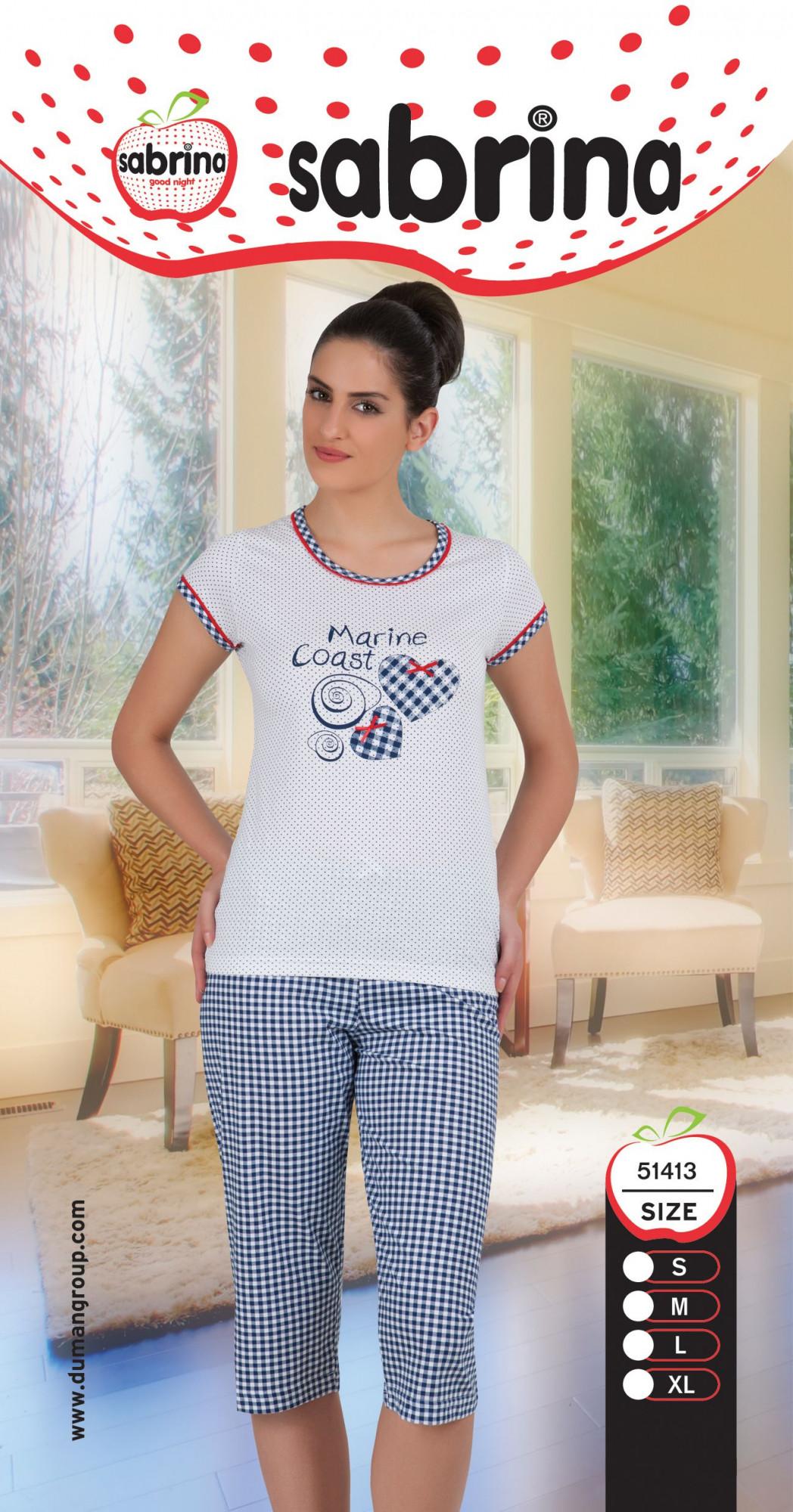 Dámské pyžamo 51413 Sabrina Barva: fuchsia, Velikost: XL