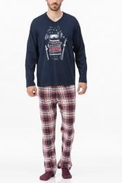 Pánské pyžamo 11447-180 modročervená - Vamp