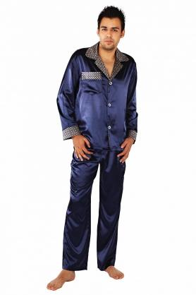Saténové pánské pyžamo Satyna - De Lafense