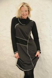 Šaty s dlouhým rukávem R3309 - Roberto Naldi