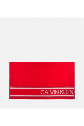 Plážová osuška KW0KW00520-600 červená - Calvin Klein