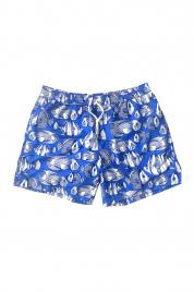 Pánské plavky šortky SM29 modrobílá - Self