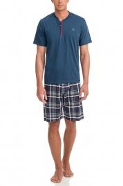 Pánské pyžamo 12601-183 modrošedá - Vamp