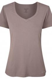 Dámské triko na spaní QS6486E-DVB hnědá - Calvin Klein
