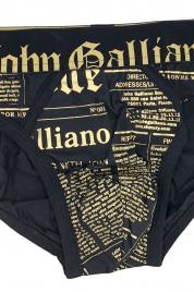Pánské slipy H095 černá - John Galliano