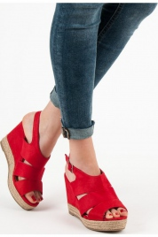 Dámské sandály espadrilky 5M17-11R - Best Shoes