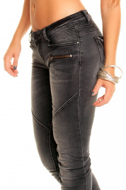 Dámské elastické džíny REDIAL 2055-1 DG - Tmavě šedé