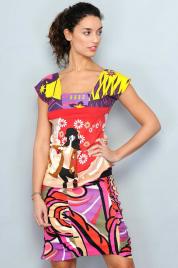 Dámská letní sukně - HHG-BO-573 - Barevná
