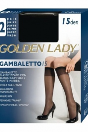 Podkolenky Gambaletto| 15 den 2 ks - Golden Lady