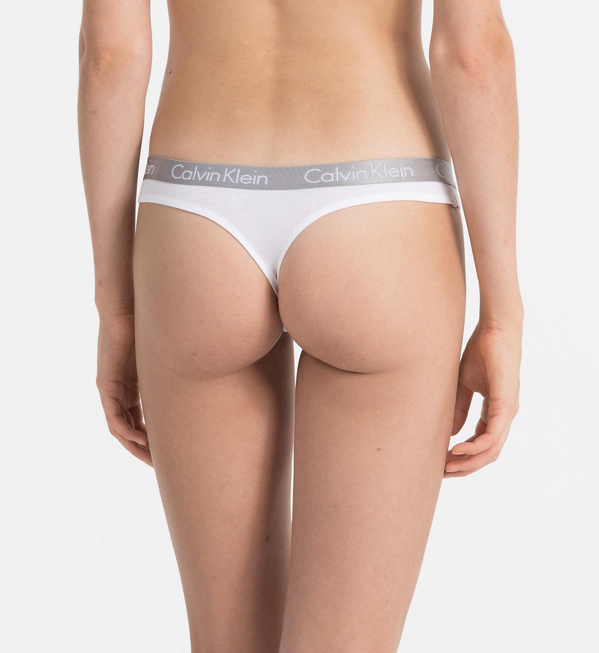 Tanga QD3539E-100 bílá - Calvin Klein