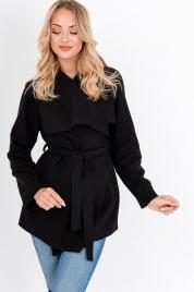 Krátký kabát s kapsami a páskem pro zavazování PL10 - ZOiO