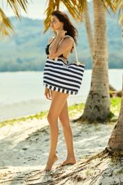 Plážová taška Ladies 38131-99x černobílá - Henderson