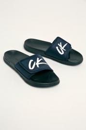 Pantofle KM0KM00499-CBK modrá - Calvin Klein