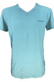 Pánské tričko U92M07JR041 smaragdová - Guess