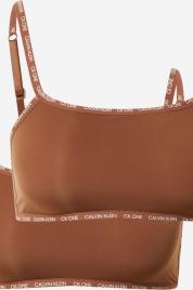 Nevyztužená braletka 2pack QD3806E BO8 bronzová/sandalwood - Calvin Klein
