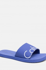 Pantofle KW0KW00398-038 modrá - Calvin Klein