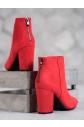 Dámské  kotníčkové boty HX20-16116R červené