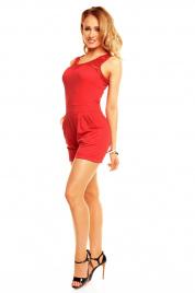 Overal dámský šortkový 2471 - Červený