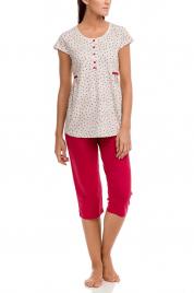 Dámské pyžamo 12093 červená-srdíčko - Vamp