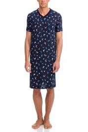 Pánská noční košile 12693-180 tmavěmodrá - Vamp