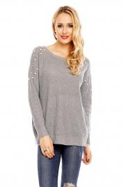 Dámský svetr s ozdobnými perličkami