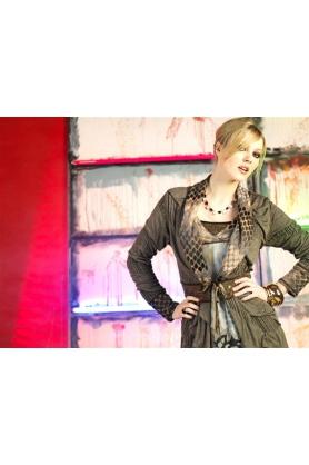 Šaty s dlouhým rukávem R3395 - Roberto Naldi