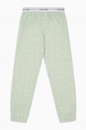 Dámské pyžamové kalhoty QS5934E-FPV zelená - Calvin Klein