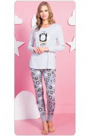 Dámské dlouhé pyžamo Tučňák Happy - Vienetta
