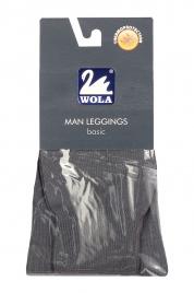 Pánské hladké bavlněné podvlékací kalhoty Man Leggings basic - Wola