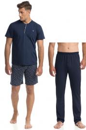 Pohodlné třídílné pánské pyžamo (3PCS) 14745 - 253 - Vamp