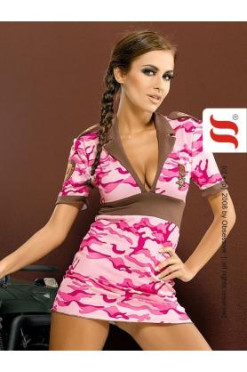 Šaty s vojenským vzorem Army dress - Obsessive