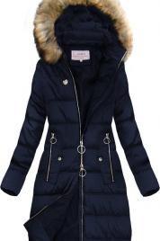 Dámská prošívaná zimní bunda s kapucí W701 - MHM