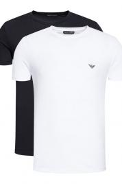 Pánské tričko 2-pack 111267 1P720 11010 černo/bílá - Emporio Armani