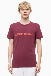 Pánské tričko OU39 vínová - Calvin Klein