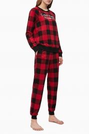 Dámské tepláky QS6302E-5VJ černočervená - Calvin Klein