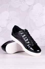 Dámské lakované tenisky SK 16-DFA-01-BK - BOOHO Shoes