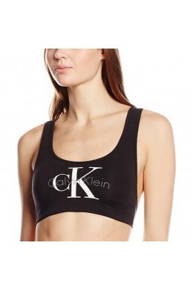 Podprsenka sportovní Bralette Lightly Lined QF1643E-001 černá - Calvin Klein