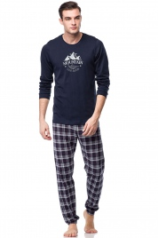Pánské pyžamo 00-17-7521-180 tmavě modrá - Vamp