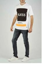 Pánské tričko U94I03JR03D-A009 černobílá - Guess