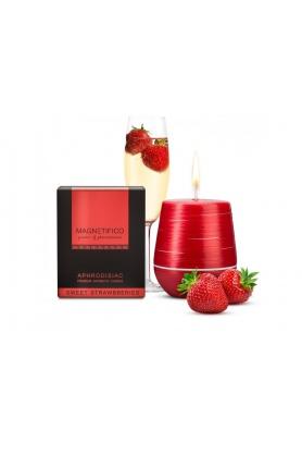 Afrodiziakální vonná svíčka Magnetifico Aphrodisiac Candle Sweet Strawberries - Valavani