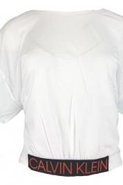Dámské triko s krátkým rukávem KW0KW00726 bílá - Calvin Klein