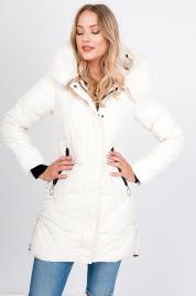 Dłuższa pikowana kurtka kieszenie