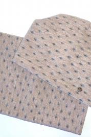 Dámský zimní set - čepice a šála - MIRIAM růžová - Kamea
