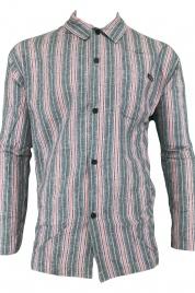 Pánská pyžamová košile U5030A-Z07 pruhovaná - Calvin Klein