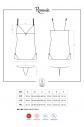 Košilka Romansia chemise XXL - Obsessive