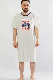 Pánská noční košile s krátkým rukávem Hra - Gazzaz