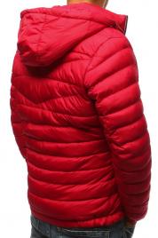 Pánská bunda s kapucí tx3084 - červená