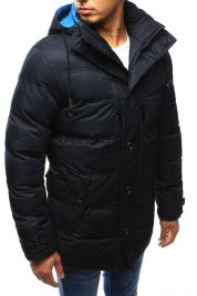 Pánská zimní prošívaná bunda s kapucí EW-415 (tx1978) - EW-Club