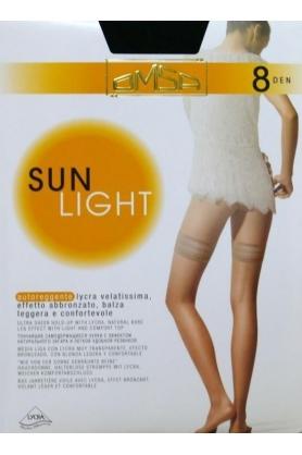Samodržící punčochy Sun Light 8 den - Omsa